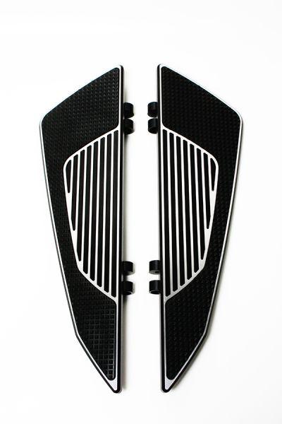 Trittbretter F32, 4-fach verstellbar, schwarz Kontrast, eloxiert, Set