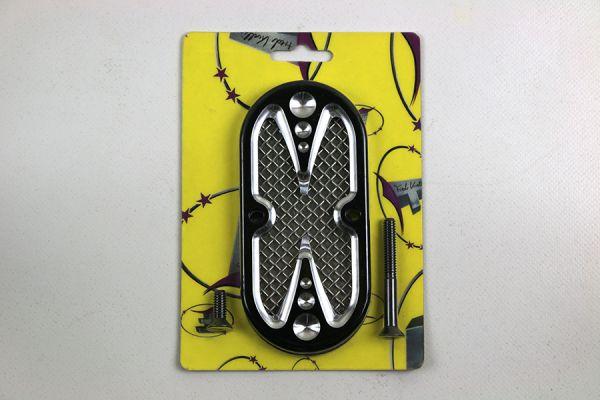 Inspection Cover, Mesh, schwarz eloxiert