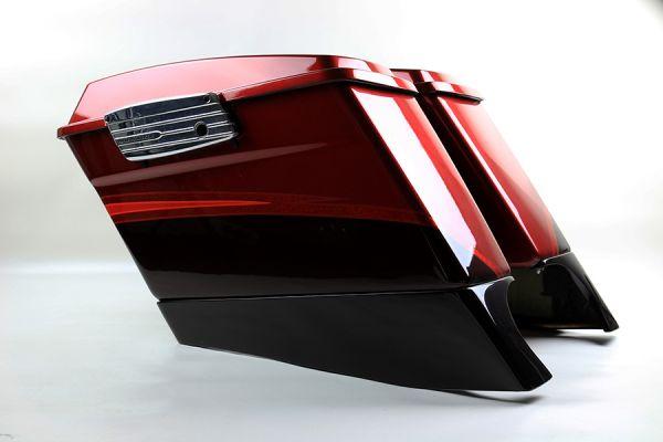 Koffersatz mit Deckel Road Glide /Street Glide CVO 2009, ruby red / maroon typhoon