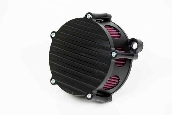 Luftfilter Grooved, alle Softail u. Dyna Modelle ab 2000, schwarz eloxiert