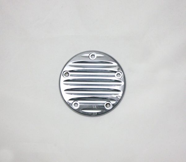 Point Cover Grooved, alle Softail, Dyna, Tourer 5 Loch, ab '99, Chrom