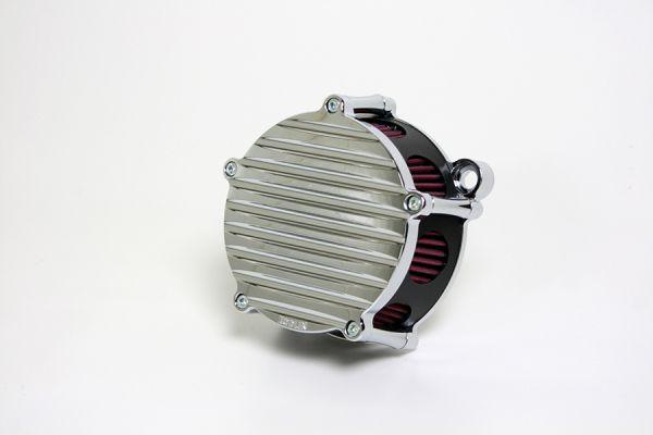 Luftfilter Grooved, alle Softail u. Dyna Modelle ab 2000, Chrom