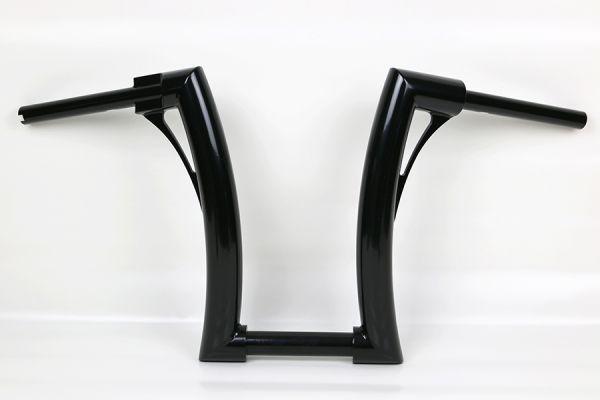 """2"""" Flow Bar Lenker tall, alle Softail Modelle, elek. Gasg., hydr. Kuppl., für 1¼""""Riser, schwarz"""