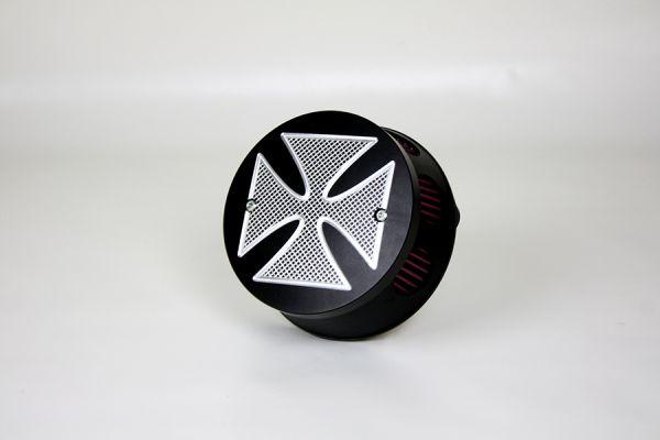 Luftfilter Cross, für Sportster, schwarz eloxiert