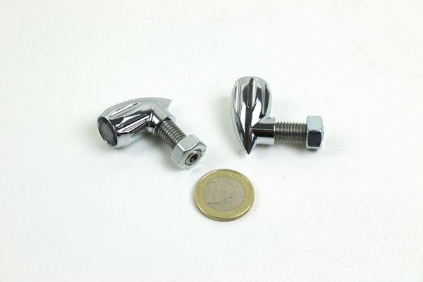 KODLIN Bullet Grooved 3-1 LED Blinker / Rück,- Bremslichteinheit, verchromt, Set