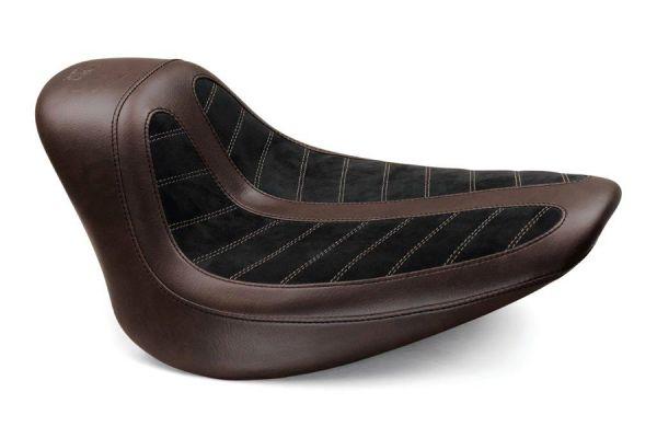 Mustang / Kodlin Solo Sitz, Softail Breakout bis 2017, braun / schwarz
