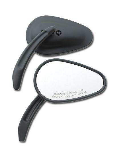 Tappered Billet Spiegel, schwarz, Set