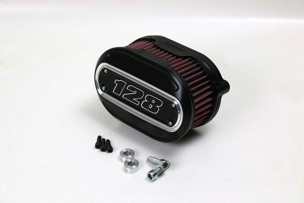Luftfilter Performance, alle Milwaukee 8 Modelle, Inlay 128 cui, Kontrast, schwarz eloxiert