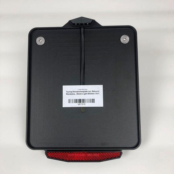 Kennzeichenplatte für Touring Modelle, schwarz eloxiert
