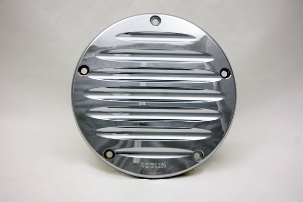 Derby Cover Grooved, alle Softail, Dyna, Tourer 5 Loch, ab '99, Chrom