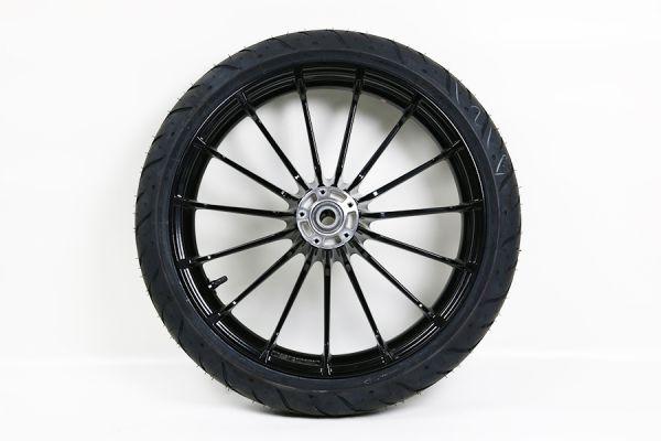 Vorderrad Touring , schwarz, mit Reifen