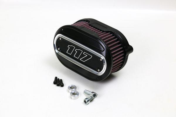 Luftfilter Performance, alle Milwaukee 8 Modelle, Inlay 117 cui, Kontrast, schwarz eloxiert