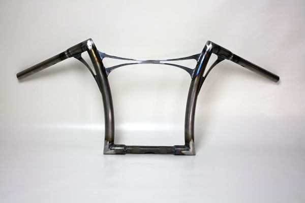 Flow-bar Lenker FAT, hoch, Road King / Road Glide bis 2007, mit Querstrebe, roh