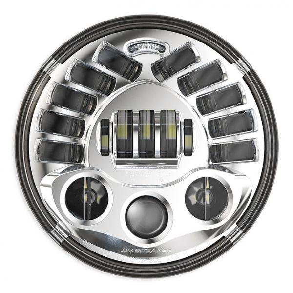 "J.W. Speaker LED Scheinwerfer 7"" adaptive, verchromt"