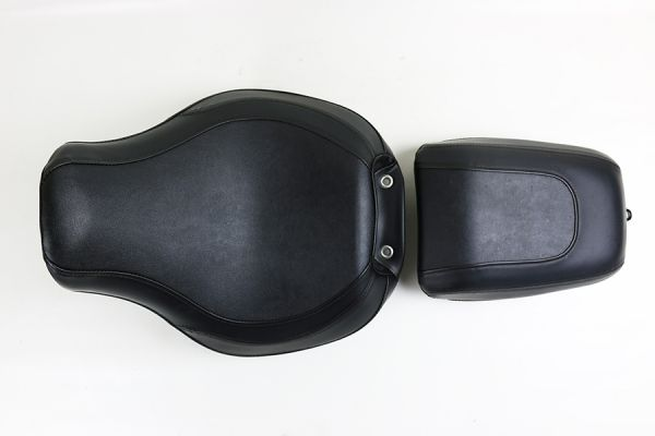 Sitzbank Fatboy, schwarz Leder 2-teilig