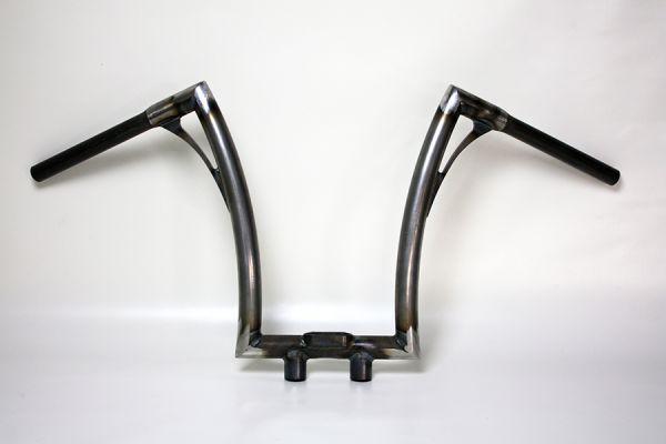 Flow-bar Lenker FAT, hoch, mit Motogadget Tacho + Motorkontr.leuchtengehäuse u. integr. Riser, roh
