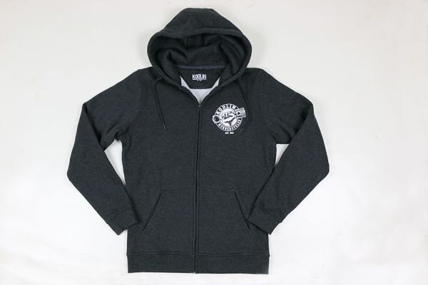 Zip Hoody / Sweatshirtjacke, anthrazit