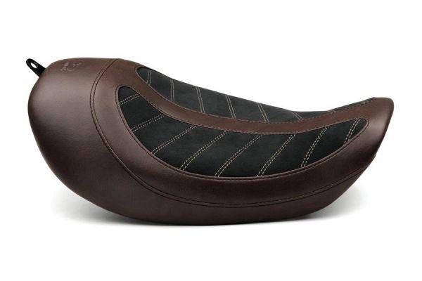Mustang / Kodlin Solo Sitz, Dyna & Wide Glide ab 2006, braun / schwarz
