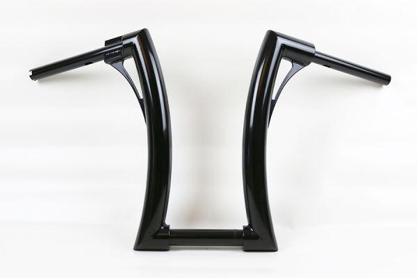 """2"""" Flow Bar Lenker extra tall, alle Softail Modelle, elek. Gasg., hydr.. Kuppl., für 1¼"""" Riser, schw"""