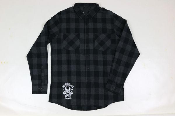 Hemd, kariert, schwarz/grau