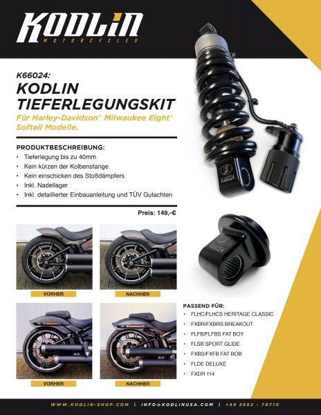 Tieferlegung / Lowering kit für M8 Softail Modelle ab 2018